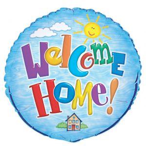 Folieballon Blauw Welcome Home