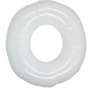 Folieballon Wit Cijfer 0, 100 cm
