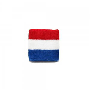 Pols zweetbandjes rood / wit / blauw